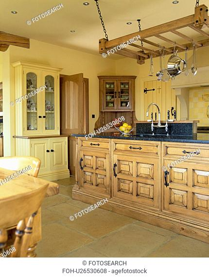 Traditional country kitchen with chestnut wood fitted units