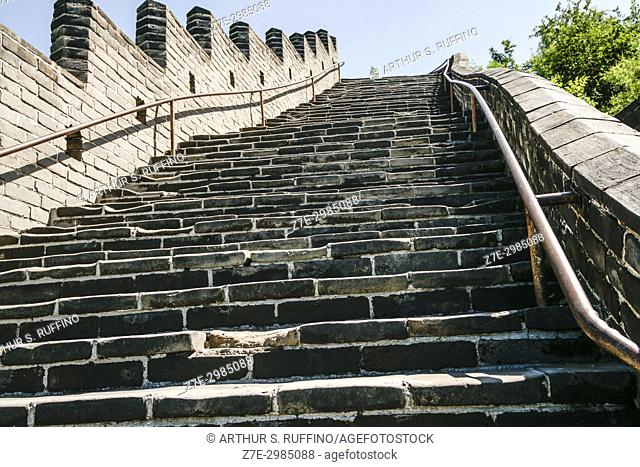 Staircase, Great Wall of China, Juyong Pass, Beijing, China