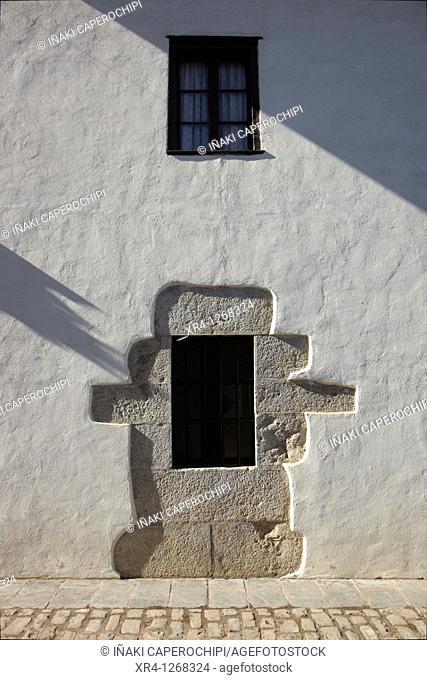 Basque farmhouse window, Aizarna quarter, Cestona Zestoa, Guipuzcoa Gipuzkoa Basque Country Euskadi, España Spain