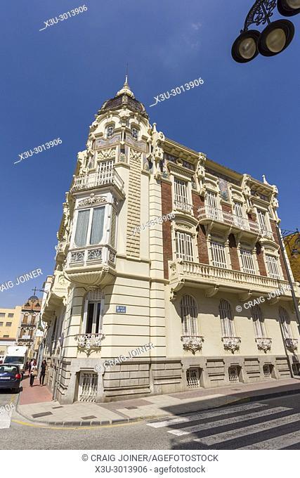 Palacio Aguirre, the Modernist home of the Regional Museum of Modern Art (MURAM) in Cartagena, Spain