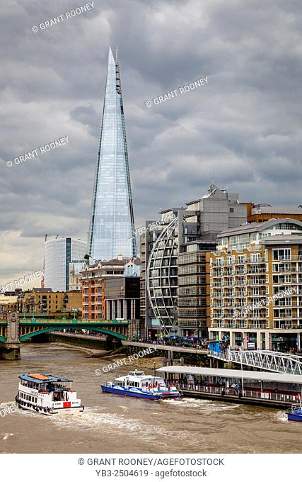 The Shard, The River Thames and Riverside Properties, London, England