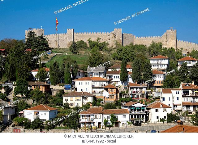 Fortress with the city of Ohrid, Macedonia