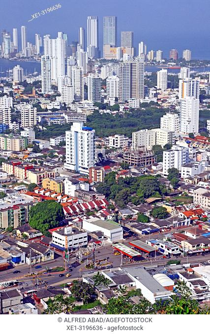 Overview of Cartagena de Indias, Colombia