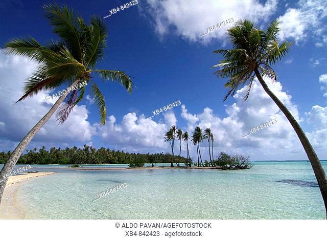 'Motu' atoll Tautau, Tahaa island, Polynesia