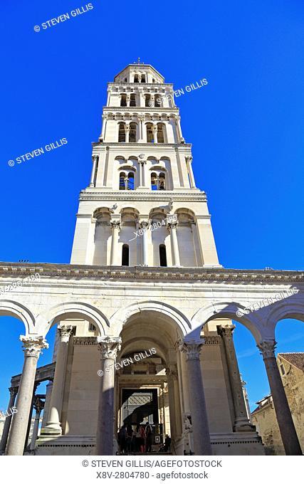 Cathedral of Saint Domnius Bell Tower, Split, Croatia, Dalmatia, Dalmatian Coast, Europe