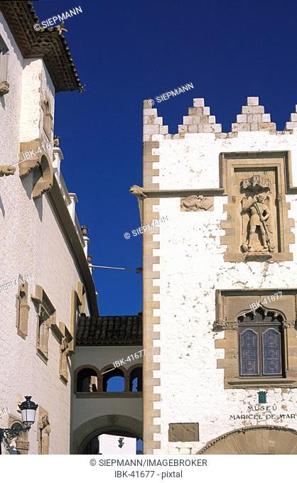 Maricel palace in Sitges at Costa de Garraf - Palau Marycel Spain