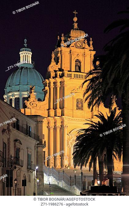Italy, Sicily, Ragusa Ibla, Duomo di San Giorgio, church,