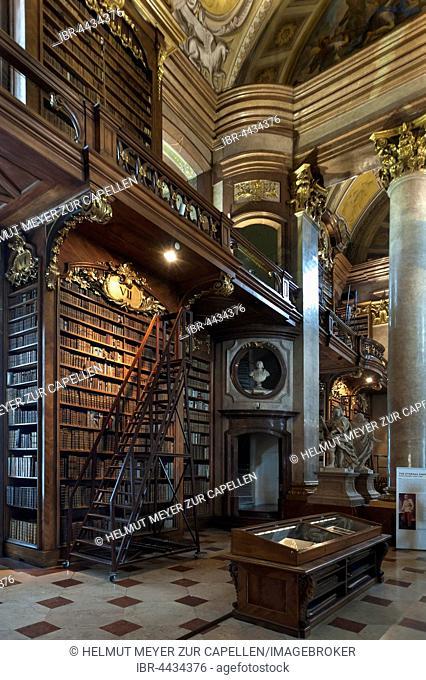Ceremonial hall, Austrian National Library, built from 1723-1726, Vienna, Austria