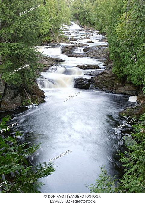 Upper Moxie Falls, Maine. USA