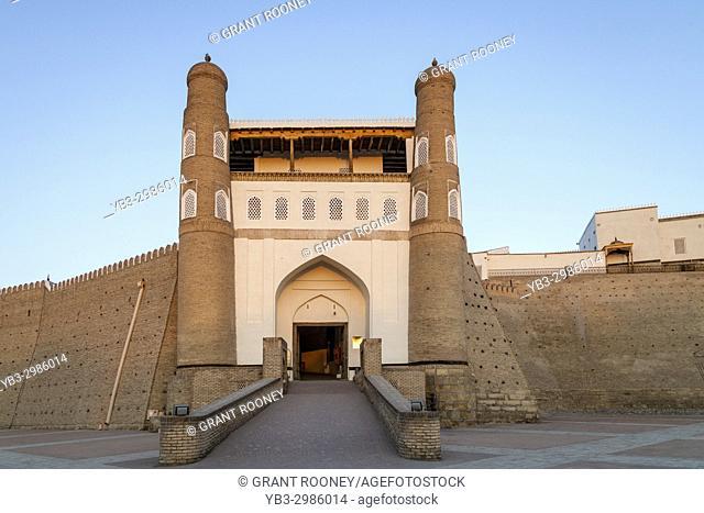 The Entrance To The Ark Fortress, Bukhara, Uzbekistan