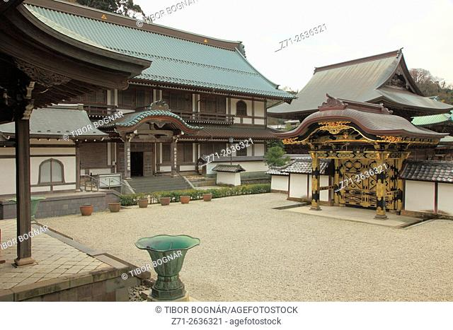 Japan, Kamakura, Kenchoji Temple, Hojo, gate,