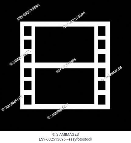 Movie Film Icon Illustration design