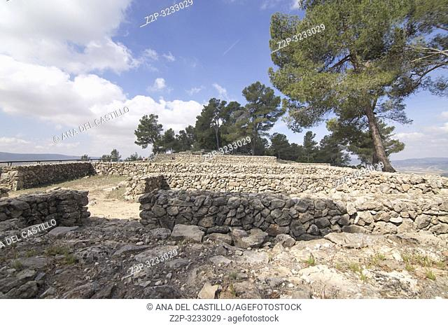 Ruins of la Bastida de les Alcusses, one of the most important Iberian archaeological sites in the Valencian Community, Moixent ,Spain