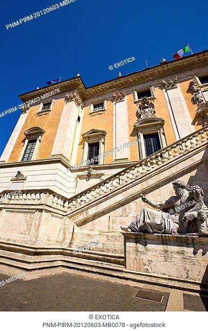 Facade of the Capitoline Museums, Rome, Lazio, Italy