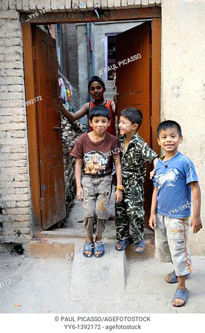 nepalis boys , the nepalis , life in kathmandu , kathmandu street life , Nepal
