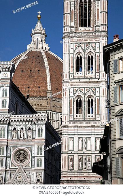 Doumo Cathedral Church Facade, Florence, Italy