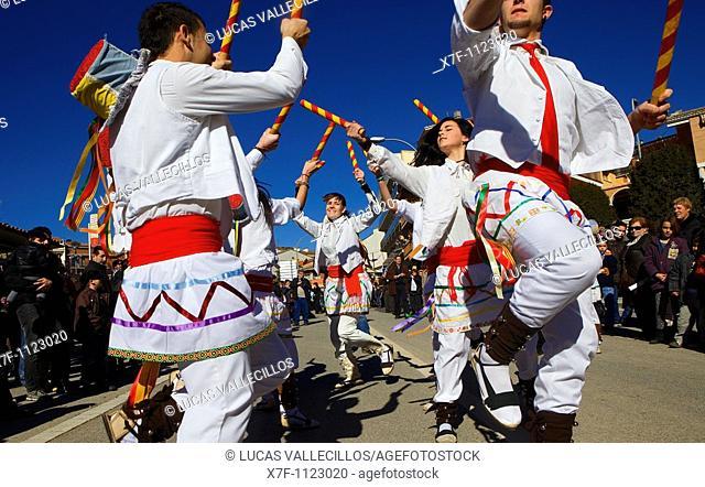 `Festa dels Traginers', Feast of the muleteer in Balsareny  `Ball de Bastons', Dance of sticks  Balsareny  Comarca del Bages  Eix del Llobregat, Catalonia
