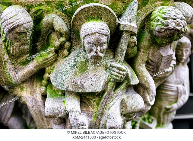 Religious art. Santiago de Compostela. La Coruña, Galicia, Spain, Europe