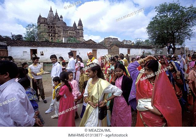 Traditional Wedding Orcha, India, Asia