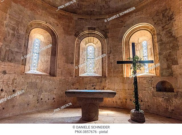 France, Provence-Alpes-Cote-d'Azur, Var, chapel of the church of the cistercian abbey of the Thoronet