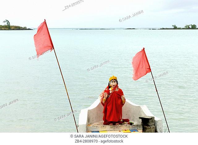 Hindu shrine at Cap Malheureux, Mauritius, Indian Ocean, Africa