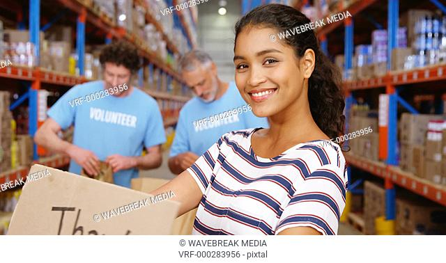 Warehouse worker posing for the camera