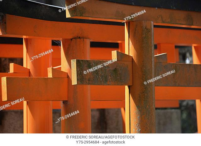 Fushimi Inari Taisha,a large Shinto shrine complex near Kyoto, Japan,Asia