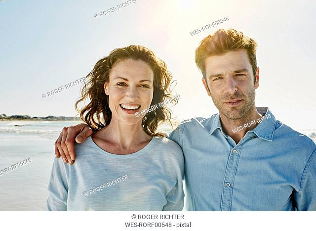 Portrait of couple on the beach