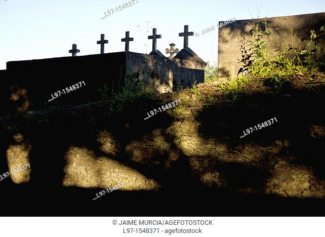 Graveyard crosses along the Camino de Santiago