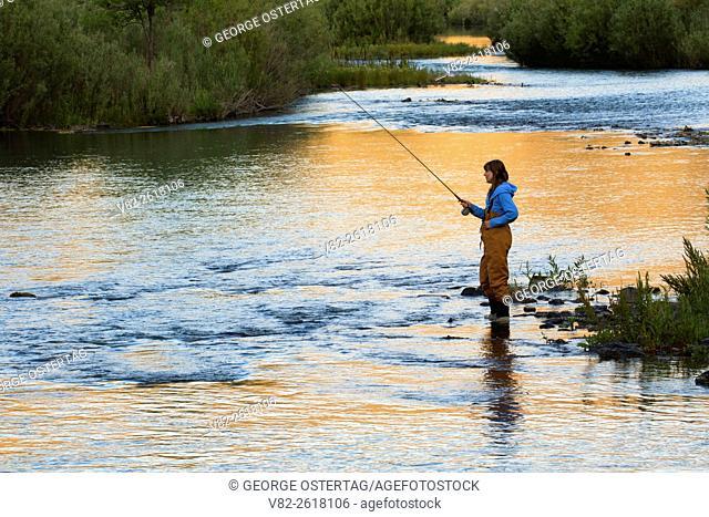 Flyfishing sunrise in Lower Owyhee River canyon, Vale District Bureau of Land Management, Oregon