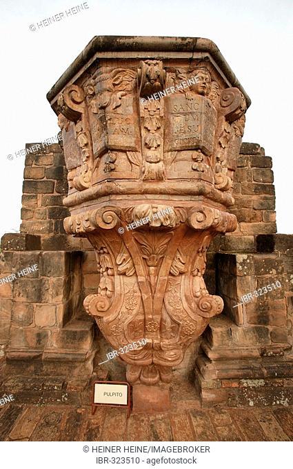 Ruins jesuit convent Trinidat Parana Paraguay South America