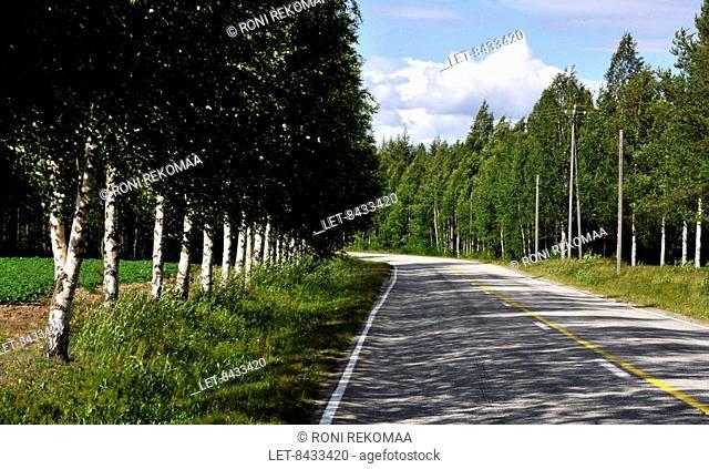 A highway in Lieksa, Eastern Finland
