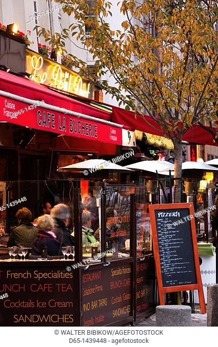 France, Paris, Left Bank, cafe on rue de Huchette