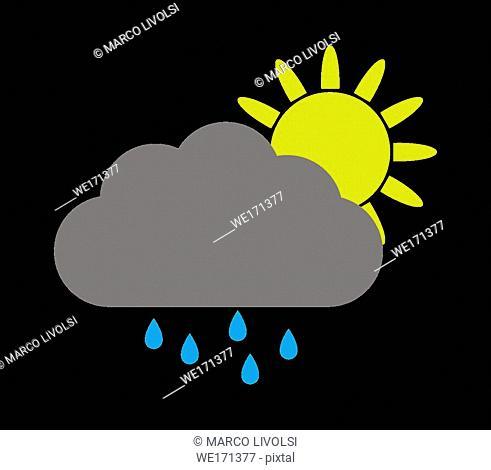 sun icon with rain