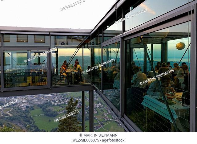 Austria, Dornbirn, Panoramic restaurant Karren