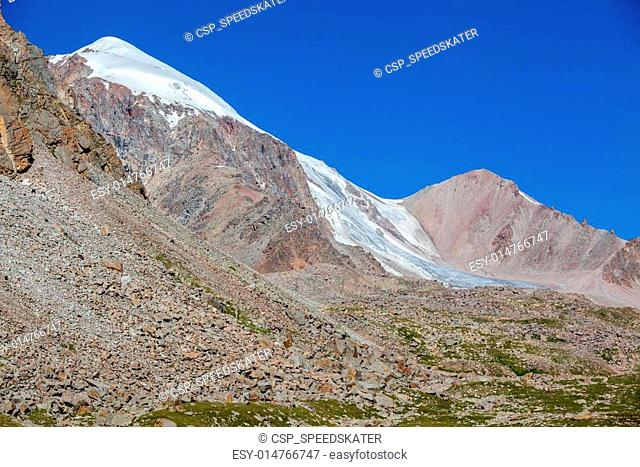 Mountains and glacier. Tien Shan