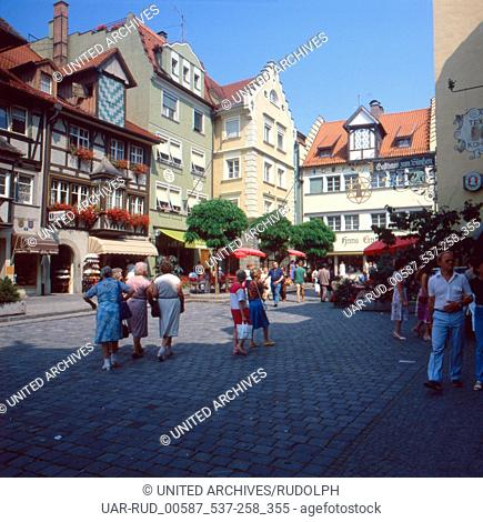 Eine Reise nach Lindau am Bodensee, Deutschland 1980er Jahre. A trip to Lindau at Lake Constance, Germany 1980s