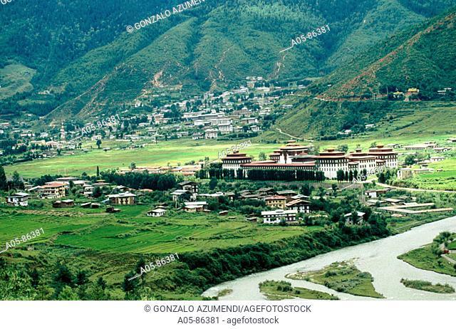 Buddhist monastery. Tashichho Dzong. Thimphu. Bhutan