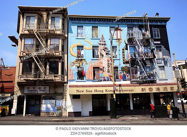 Chinatown China Town, San Francisco, California, USA