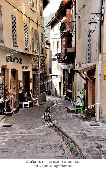 St-Martin-Vésubie, town of the Maritime Alps, cool summer resort in the mountains unfar the French Riviera, Alpes-Maritimes, French Alps, France