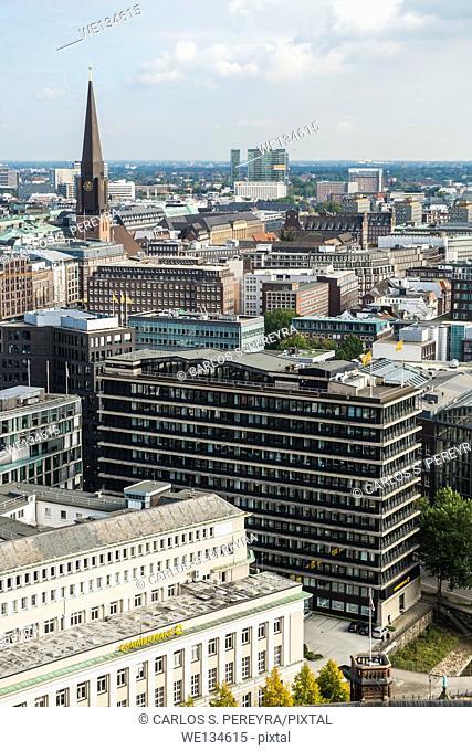 Panoramic of Hamburg, Germany