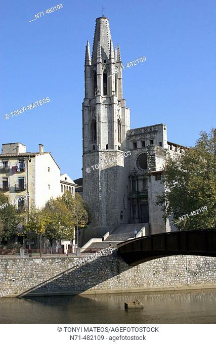 Church of Sant Feliu, Girona. Catalonia, Spain