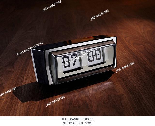 An alarm clock, close-up