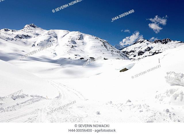 Winterwanderung, Alpen, Berge, Winter, Grimselpass