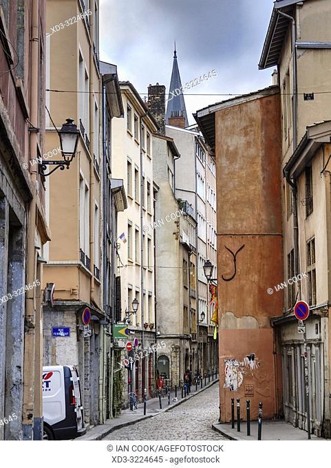 Rue Saint Jean, Lyon, Auvergne-Rhone-Alps, France