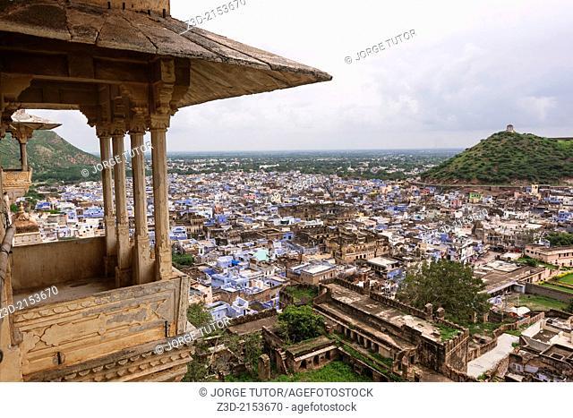 City of Bundi from the palace, Rajasthan, India