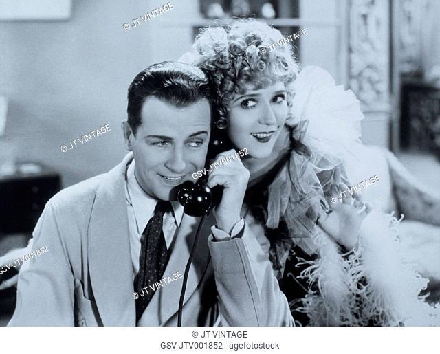 Mary Pickford and Reginald Denny, On-Set of the Film, Kiki, 1931