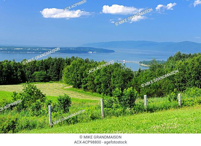 View of the St. Lawrence River from St-Joseph-de-la-Rive L'Isle-aux-Coudres Quebec Canada