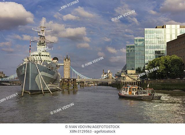 HMS Belfast, London, England, UK