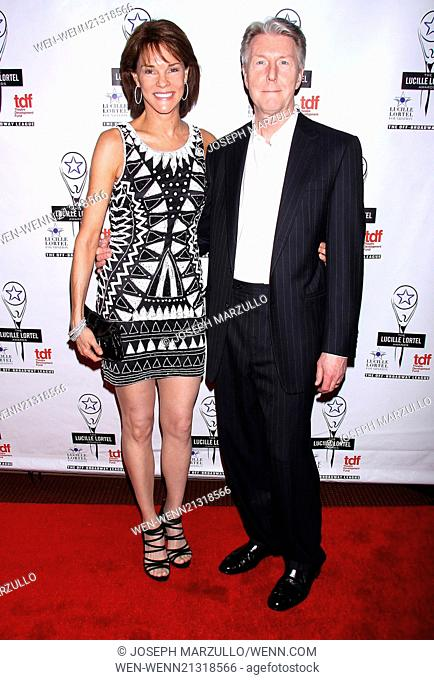2014 Lucille Lortel Awards held at the NYU Skirball Center - Arrivals. Featuring: Carolyn McCormick,Byron Jennings Where: New York, New York